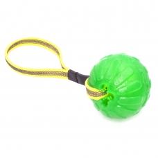 Minge de mestecat, 9cm cu dispenser recompense, cu maner, Chew Ball Large (705)